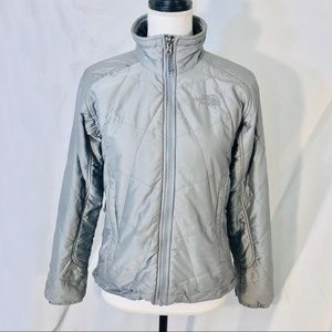 The North Face Silver Quilted Jacket